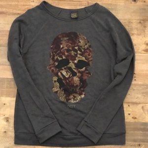 Obey skull long sleeve sweater